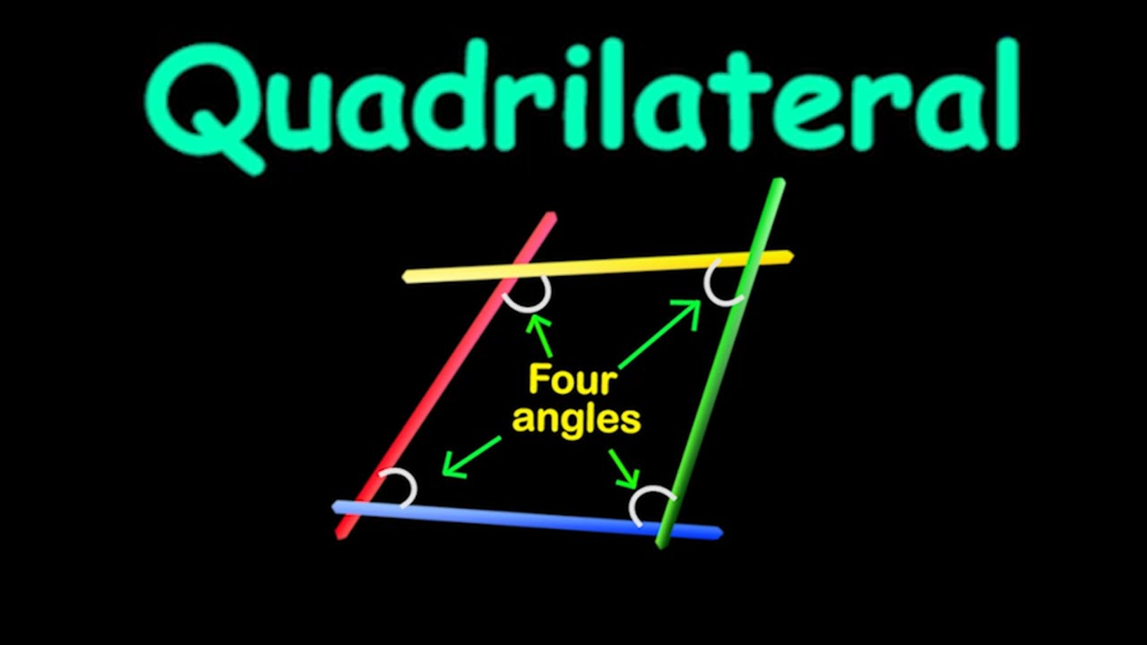 quadrilateral types of quadrilaterals geometry math letstute youtube