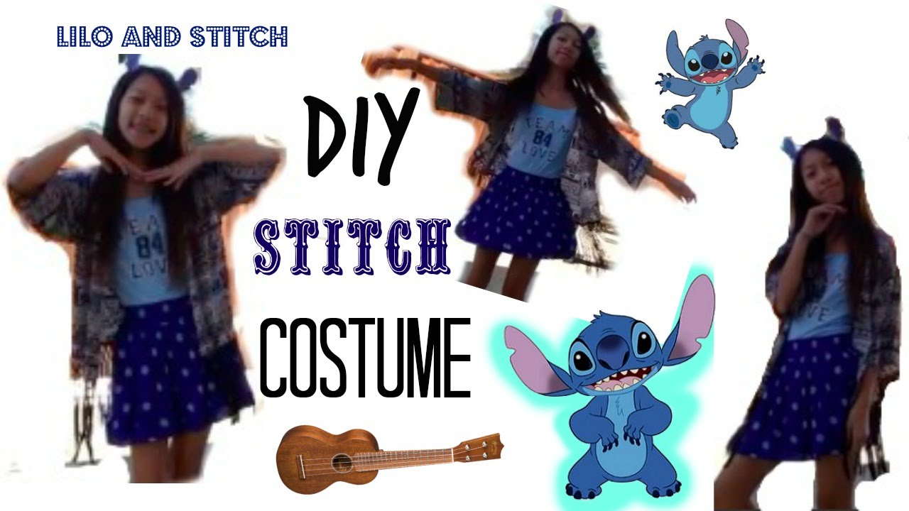 Diy stitch costume for halloween youtube diy stitch costume for halloween solutioingenieria Images