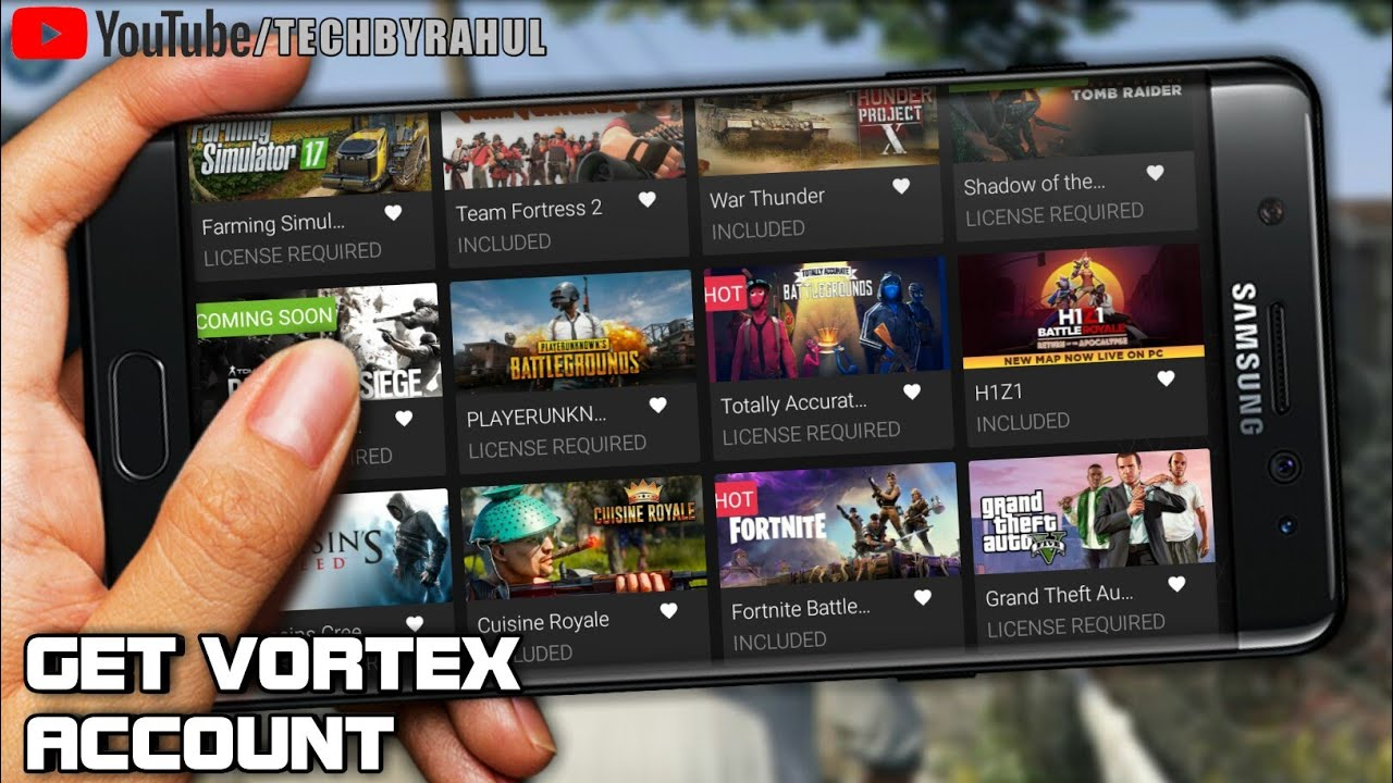 FREE VORTEX ACCOUNT PLAY ALL GAMES FOR FREE