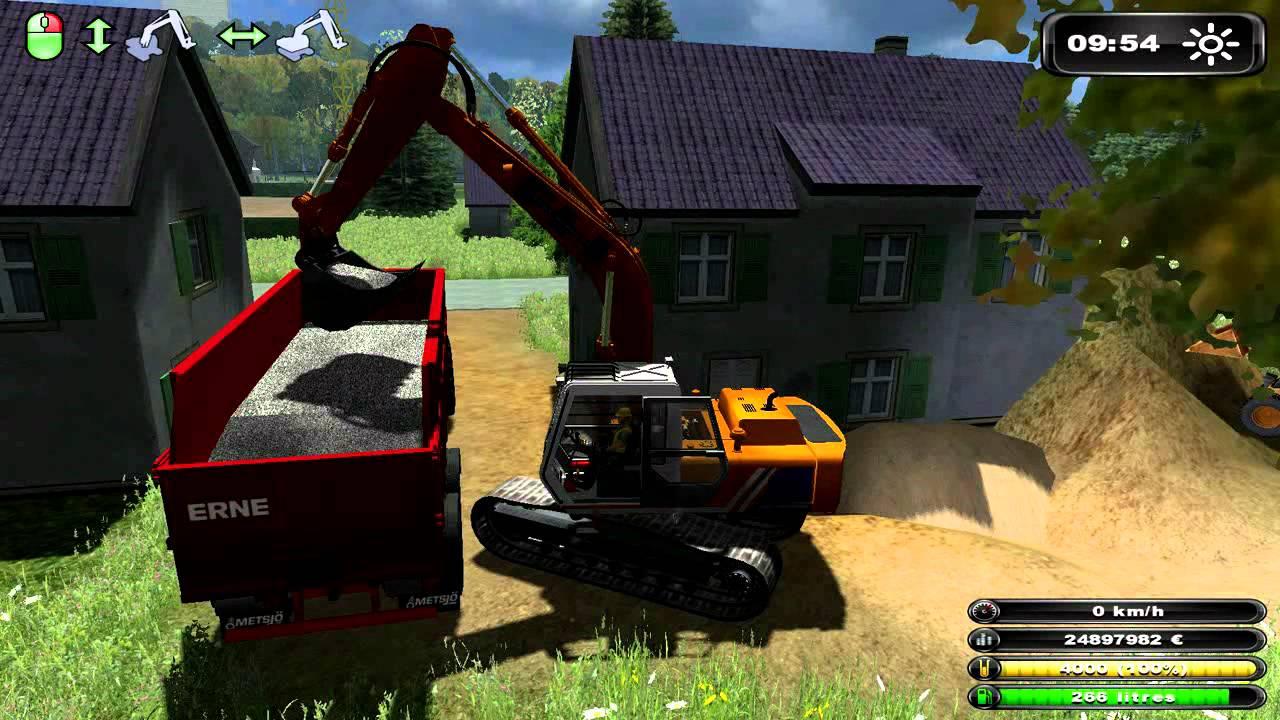 Farming simulator bzh travaux publics youtube - Jeux grue de chantier gratuit ...