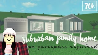 Roblox: Welcome to Bloxburg | Suburban Family Home (No Gamepass Required)