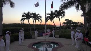 PELICAN ISLE YACHT CLUB EVENING COLORS CEREMONY 12 /3/14