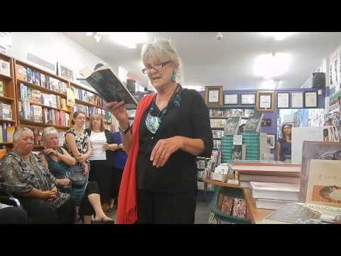 Barbara Ewing reading from 'The Petticoat Men' in the Women's Bookshop, Ponsonby