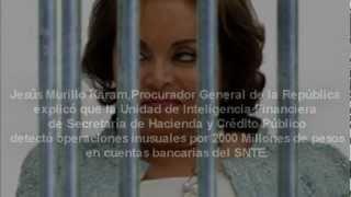 PGR detiene a Elba Esther Gordillo por desvio de fondos y lavado de dinero del SNTE