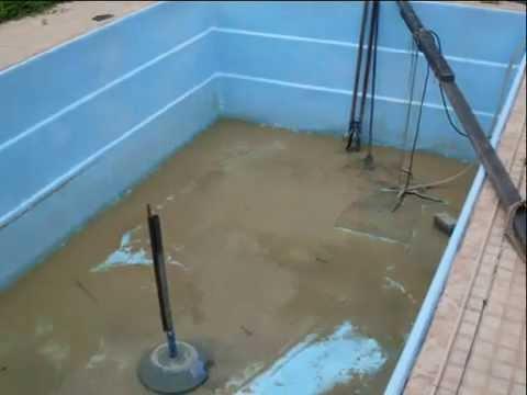 Conserto vazamento pintura de piscina de fibra de vidro - Pintura de piscina ...