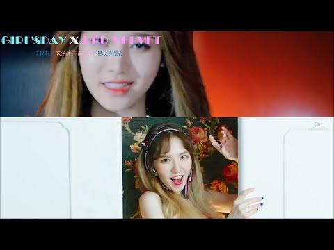 [MASHUP] Red Velvet/Girl's Day-빨간맛(Red Flavor)X헬로버블(Hello Bubble) [RANK S]