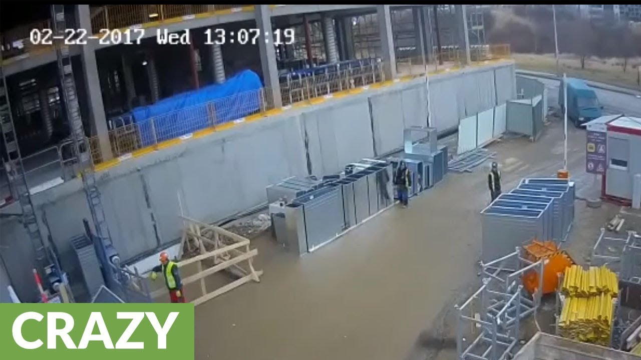 Insane Near-Death Accident On Construction Site!