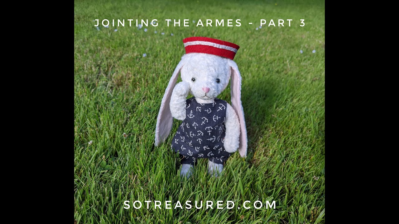 How To Joint Teddy Dolly Arms - Part 3