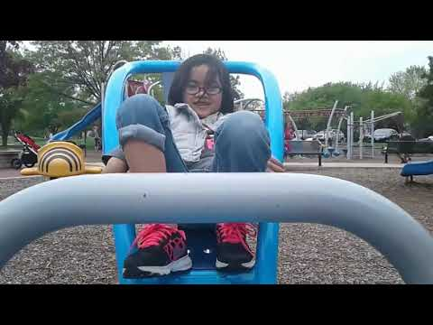 Mandy plays at the park