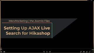 Setting Up AJAX Live Search for Hikashop