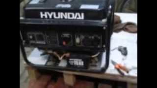 видео Бензиновый генератор Hyundai HHY2500F