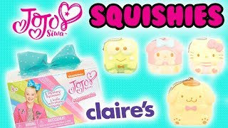 JOJO SIWA SQUISHIES AT CLAIRE'S 😱and NEW Licensed Sanrio Squishies! OMG SO CUTE! 😍😍😍