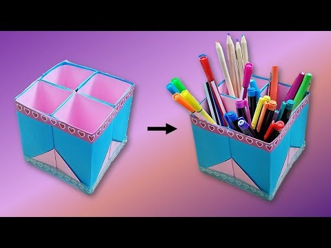 Adorable paper pen/pencil holder, easy to make - COCO Art&Craft