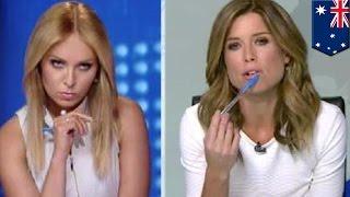 TV host meltdown  Australian Amber Sherlock fights co host Julie Snook over white outfit   TomoNews