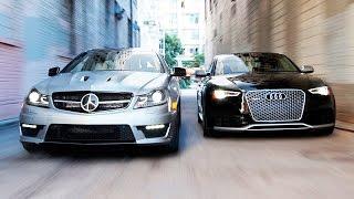 Audi RS 5 и Mercedes-Benz C 63 AMG Coupe. Вечный спор автотитанов [Smotorom]