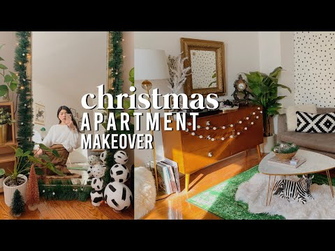 CHRISTMAS APARTMENT MAKEOVER! | Easy + Cheap DIY Decor Ideas For Small Spaces 2019