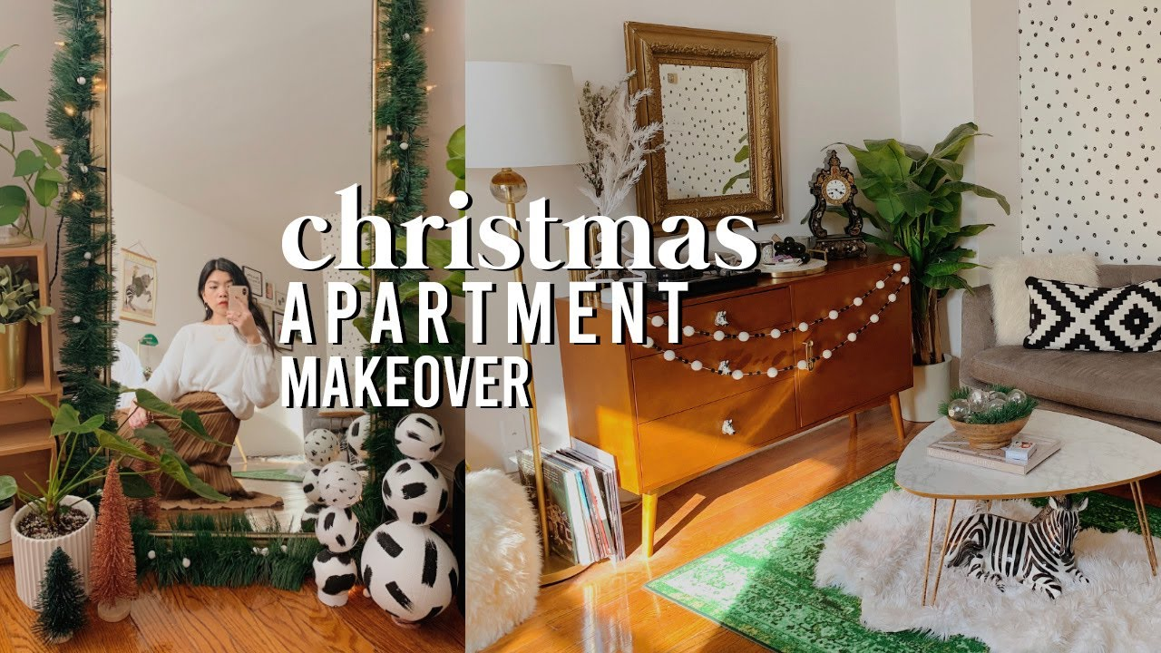 Christmas Apartment Makeover Easy Cheap Diy Decor Ideas For Small Spaces 2019 Youtube