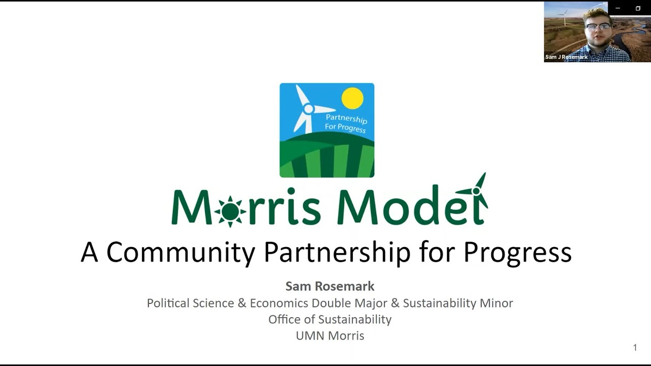 Morris Model Wins Award at U of M Sustainability Conference