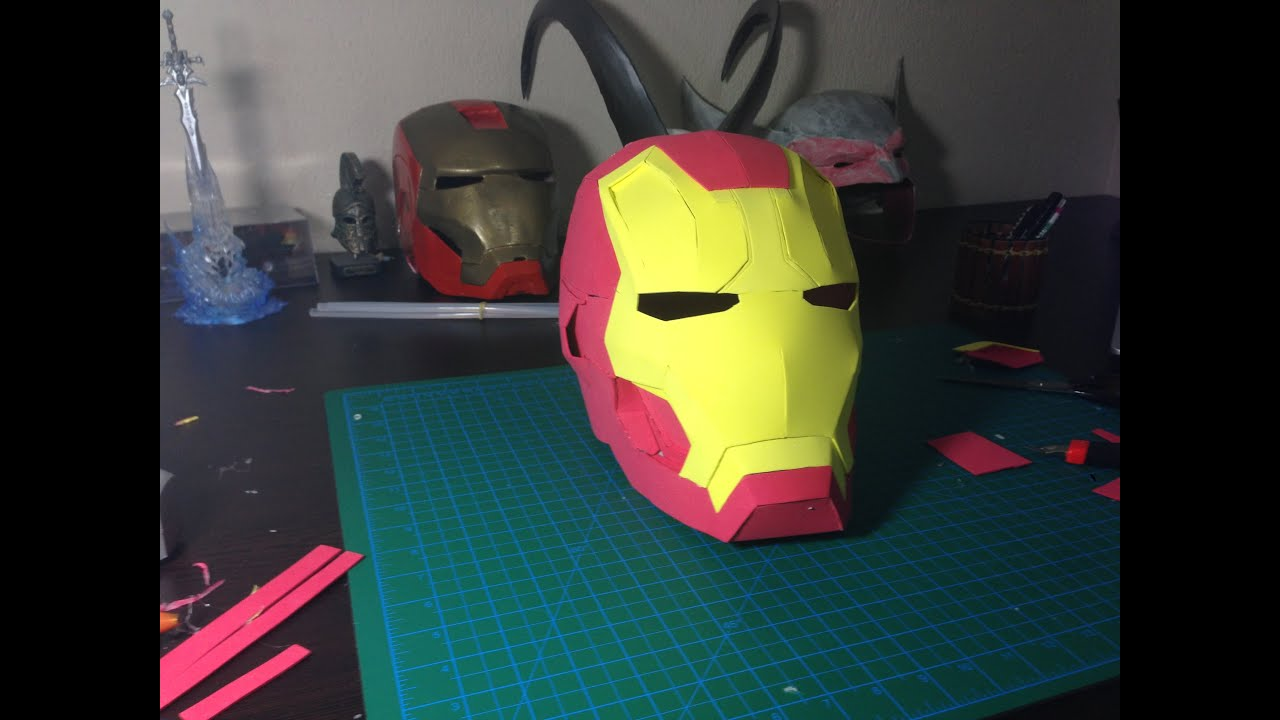 How To Make Iron Man Helmet Out Of Eva Foam Tutorial Youtube