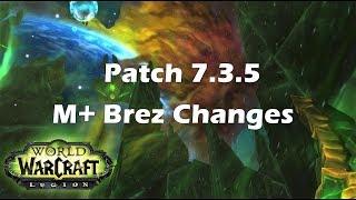 [Legion] Patch 7.3.5 Mythic+ Battle Rez Changes