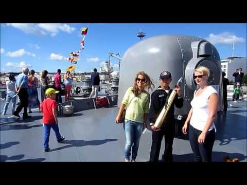 JDS Kashima 3508 - Video Tour of Ship - Helsinki Harbor, Finland