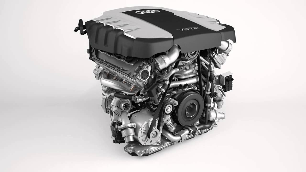 Audi V8 4 2 Tdi Engine Turntable Animation