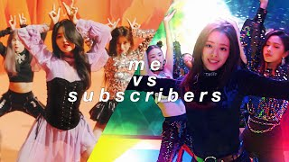 Mix - kpop favorites: me vs my subscribers