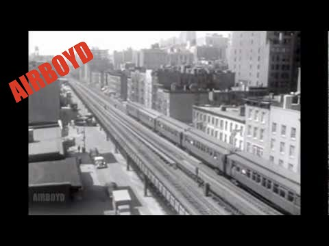 """The End Of The """"EL"""" - New York City (1955)"""