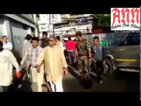 BJP Bengal President Dilip Ghosh Badly Beaten Attack by GJM workers Real Footage Exclusive Video