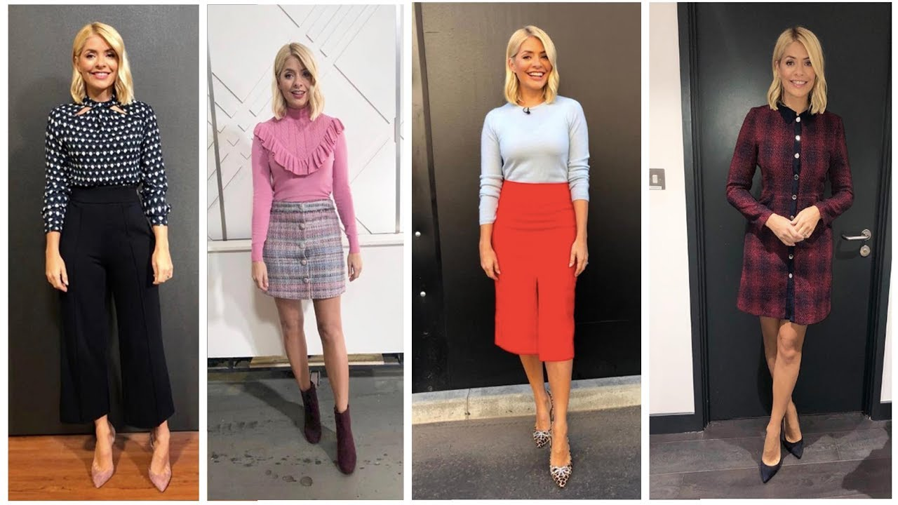 55d4f2484570 Holly Willoughby This Morning Outfit September Week 4 2018 - YouTube