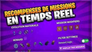 MISSIONS RECOMPENSES - FORTNITE SAUVER THE WORLD