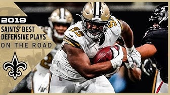 Highlights: New Orleans Saints Top Defensive Plays on the Road in 2019