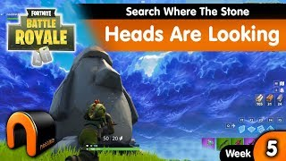 Search Where The Stone Heads Are Looking FORTNITE