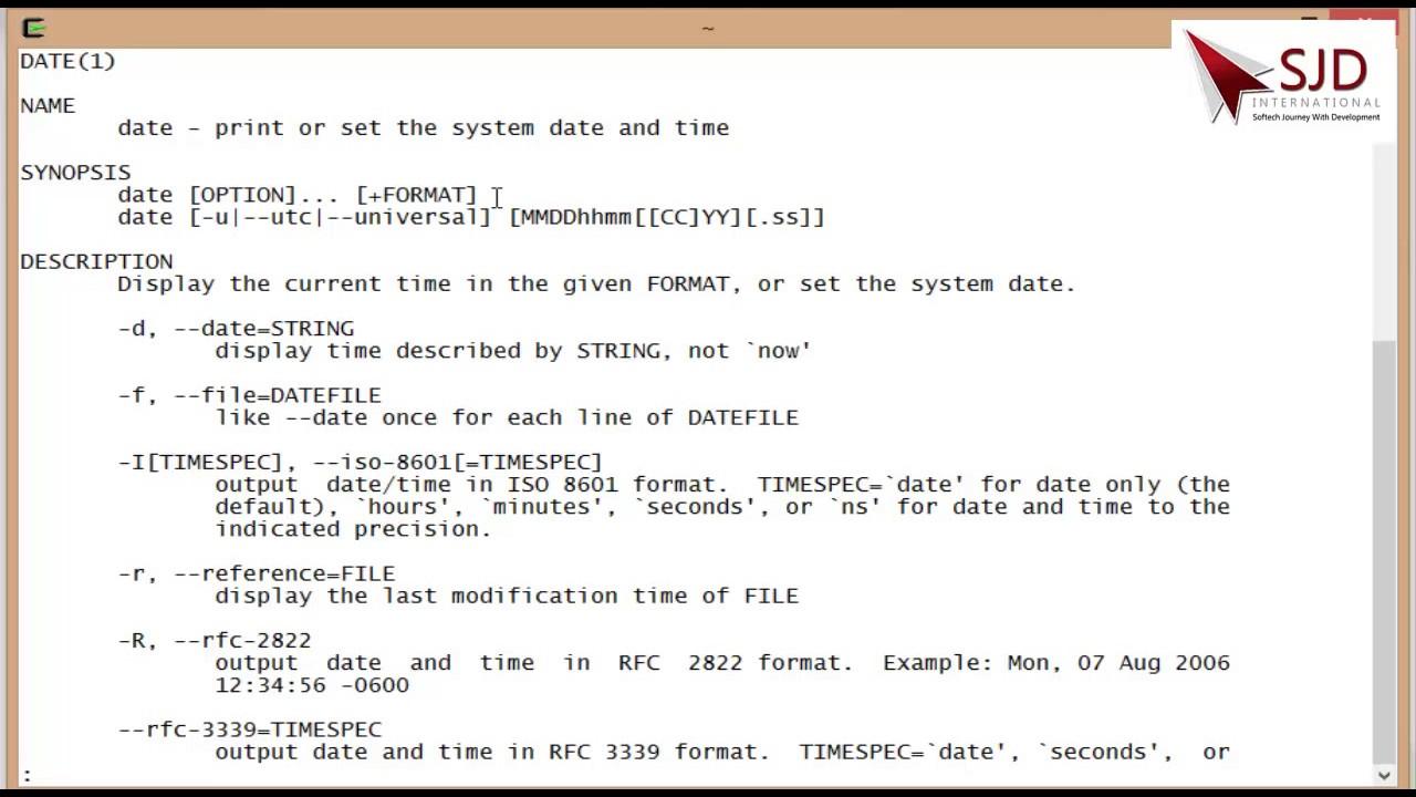 unix hindi tutorial series video 3 how to use man command of unix to rh youtube com unix date minus 1 unix date minus 1