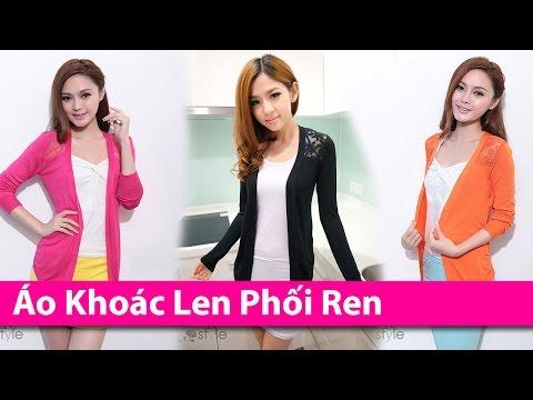 Áo Khoác Len Phối Ren - Áo Khoác HCM Chuyên áo Khoác Thời Trang AoKhoacHCM.com