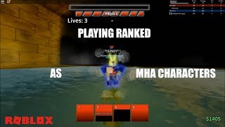 PLAYING RANKED AS MHA CHARACTERS | ABA | ROBLOX
