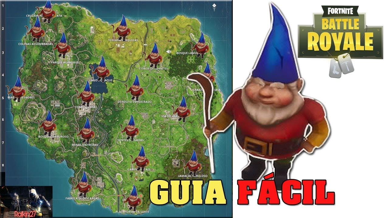 Mapa De Gnomos Fortnite.Fortnite Localizacao De Todos Os Gnomos Guia Facil Fortnite Battle Royale