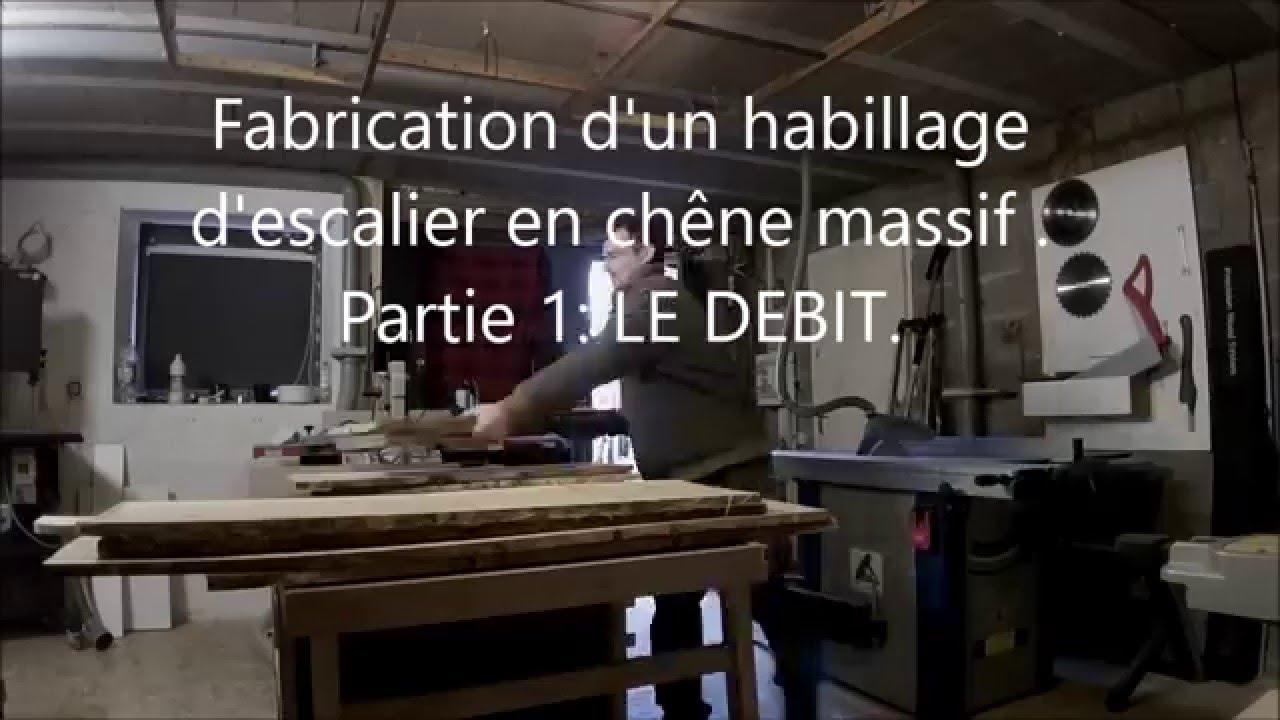 Fabrication dun habillage descalier en chêne Part 1  LE DEBIT