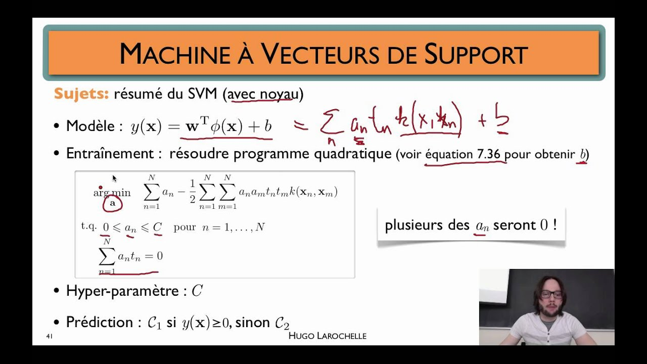 apprentissage automatique  6 7    machine  u00e0 vecteurs de