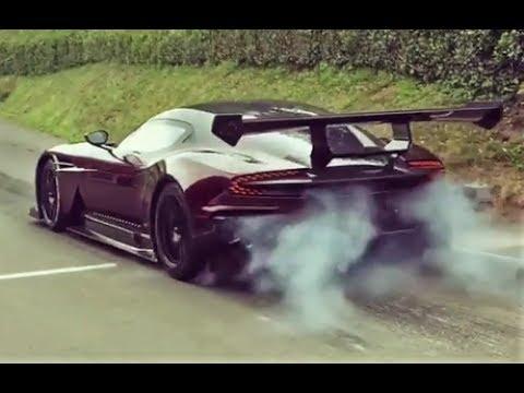 Aston Martin Vulcan at Shelsley Walsh // 830Hp V12 Monster - Burnout & Pure Sound