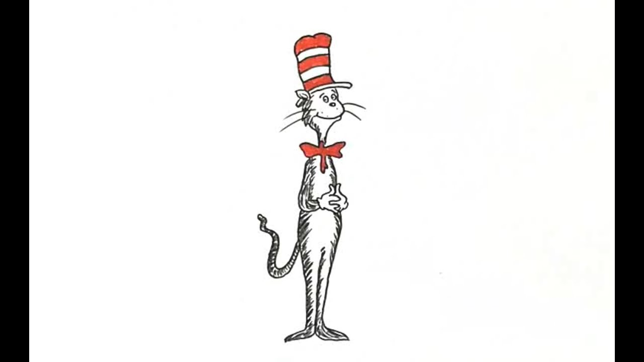 This is a photo of Challenger Drawing Cat In The Hat