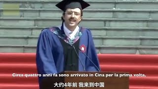 SI LAUREA IN CINA DISCORSO STUDENTE ITALIANO CARLO DRAGONETTI