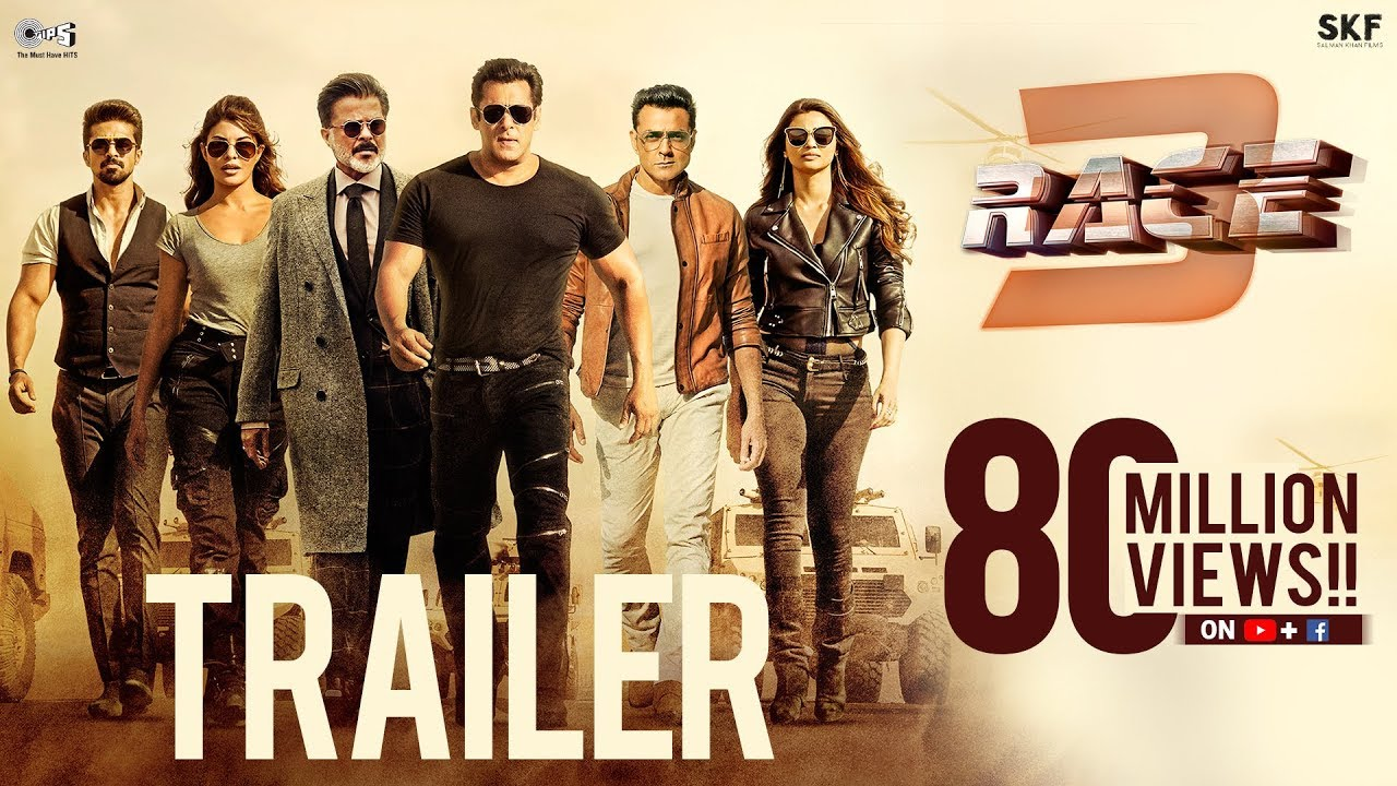 Race 3 Official Trailer | Salman Khan | Remo D'Souza | Bollywood Movie 2018 | #Race3ThisEID #1