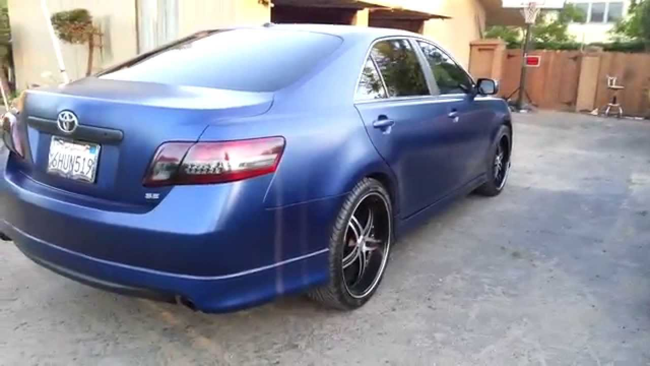 Plasti Dipped Camry Se Frozen Blue Matte Clear Youtube