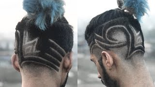 Hair Tattoo Design | BEST BARBER IN THE WORLD | Ratan Singh