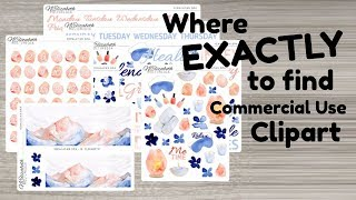 Where to find Graphics and Clipart for Designing Planner Stickers - FREE and PAID options