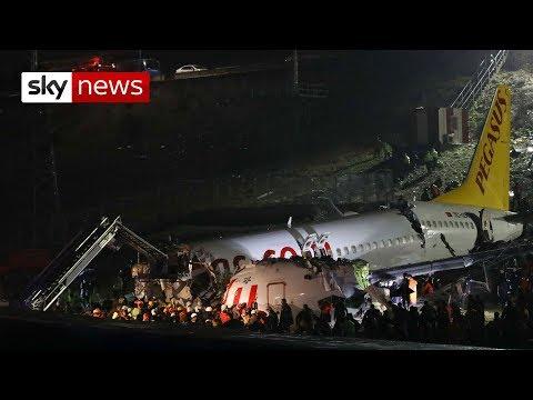 Turkey plane: Three dead, 179 hurt as jet skids off runway