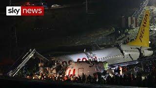 Turkey plane: At least one dead, 150 hurt as jet skids off runway