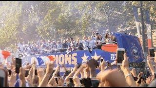 L'Équipe de France descend les Champs Elysées (16 juillet 2018, Paris)