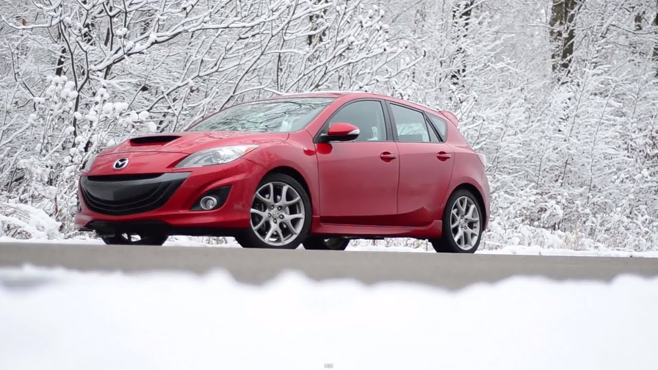 2012 Mazdaspeed3 With Snow Tires—WINDING ROAD Quick Drive - YouTube